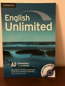 English Unlimited A2 Elementary - Coursebook with e-Portfolio DVD-ROM - NEUF
