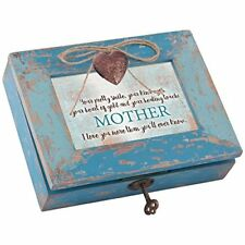 Your Kind Heart of Gold Mother Teal Wood Locket Music Box- Wind Beneath My Wings