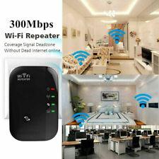 1pcs WiFi Wireless Repeater Wi-Fi Range Extender Amplifier Booster 300Mbps Black