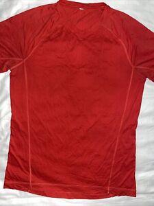 Lululemon XL RED Men's Short Sleeve Athletic T-Shirt Workout Running