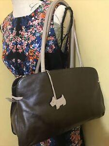 Medium Brown Leather Genuine Radley Handbag /Work/Shoulder Bag Lovely Con.
