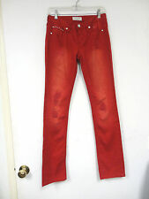 Pepe Jeans London red torn look jeans with rhinestones   Size 29 X 31