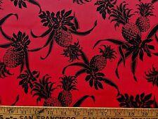 Cotton Fabric Pineapple Red Black BTHY