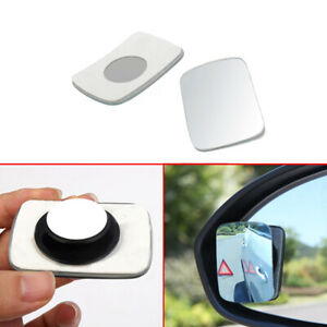 2pcs Car Side Blind Spot Wide View Mirror Small Rearview For Car Truck Universal