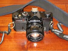 Konica Autoreflex T 35mm SLR Camera with Hexanon AR 57mm F1.4 Lens