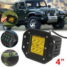 """1PCS 4"""" Flush Mount LED Work Light Pods Combo Driving Lamp 12/24V Truck SUV Boat"""