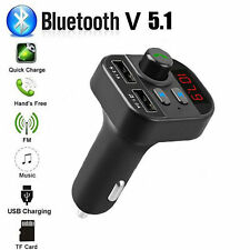 Bluetooth In-Car Wireless FM Transmitter MP3 Radio Adapter Car Kit 2 USB Charger