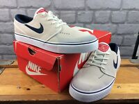 NIKE MENS UK 9 EU 44 SB ZOOM STEFAN JANOSKI WHITE BLACK TRAINERS M