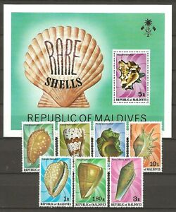 Maldives 1979 Fauna Wildlife Marinelife Fisch Fish Shell compl. set + SS MNH