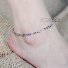 Women Gold Silver Figaro Chain Anklet Ankle Bracelet Barefoot Beach Foot Jewelry
