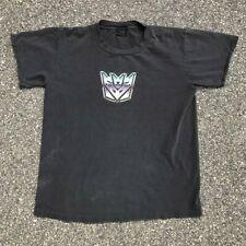Thrashed Vintage Transformers Decepticon Single Stitch Tshirt Adult Size Medium