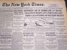 1931 SEPT 12 NEW YORK TIMES - HURRICANE HITS BELIZE TIDALWAVE - NT 4992