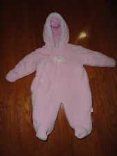 Krw Pink Baby Girl warm Jumpsuit w/Hoodie snap front. 3-6 Mo