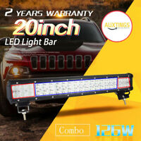 20 inch 126W LED WORK LIGHT BAR COMBO Offroad DRIVING LAMP 4WD ATV UTE SUV 20''