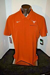 Teaxas Longhorns UT Nike DRY Orange Polo Shirt Mens Size XL Dri Fit NWT 85.00