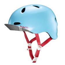 Bern Berkeley Satin Blue, Fahrradhelm, Skatehelm, Damen Helm, Urban Chic, M-L