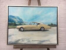 Oldsmobile del Monte 1968 Oldtimer en Méditerranée-PEINTURE HUILE de 1988 signée