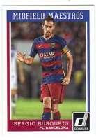 2015 Panini Donruss Soccer Midfield Maestros #20 Sergio Busquets FC Barcelona