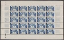 ALGERIE N°278** UPU Très belle feuille de 25 avec coin daté 29/6/1949, ALGERIA