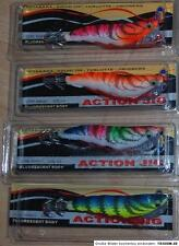 2.5 Set  4 X Totanara Octopus Squid Action Jig Tintenfisch Gr