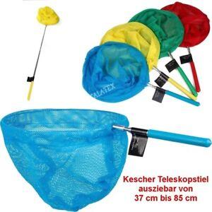 Kinder Kescher Teleskopstiel Fangnetz Teichkescher Strand Poolkescher Angeln