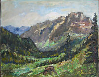 ::WALTER ROMBERG *1898 °WEITER BLICK INS LAND °SIGNIERT LANDSCHAFT ANTIK / KZIII