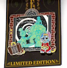 LE Disney Pin Twilight Zone Tower Terror E-Ticket Stitch Costume Bellhop 3D Glow