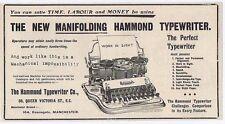 Hammond Typewriter Co Queen Victoria Street London - Antique Advert 1904