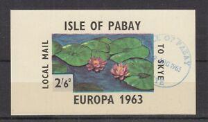Cinderella   Isle of Pabay  Blumen  Seerosen  Block  oo