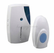 WIRE FREE HOME WIRELESS DIGITAL DOOR BELL CHIME SET KIT 32 TUNES SOUNDS CORDLESS