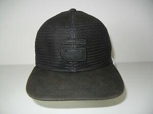 G-STAR RAW All-Black Full Mesh TRUCKER HAT Casual Snapback Baseball Cap 1-SIZE