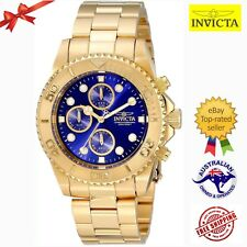 Invicta Men's 19157 Pro Diver Blue Luminous Dial Gold-Tone Bracelet Watch