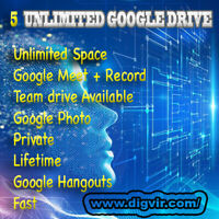 5 Gsuite Google Drive Unlimited✨ Google Meet + Record ✨ Google Photo ✨ Hangout