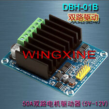 50A Dual-Channel H Bridge Motor Driver Module for Arduino Robot Chassis Servo