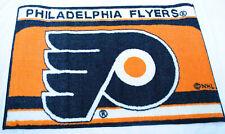 More details for philadelphia flyers floor mat, orange, black & white 48x75cms