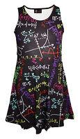 Kids / Girls Fun Maths Formula School Print Flare Skater Dress Size 5 -10 Years