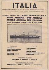 Z5358 Transatlantico Roma - Flotte Riunite Italia - Pubblicità d'epoca - 1932 ad