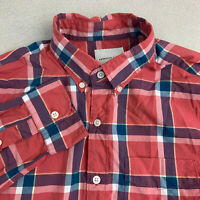 American Eagle Button Up Shirt Mens Small Multicolor Plaid Long Sleeve Casual