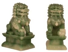 Hong Tze Collection-A Pair Of Jade Beijing Foo Dogs (Small)