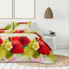 Bettwäsche Duett 215x143 cm Erdbeere Mikrofaser постельное белье 4 Teile Россия