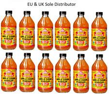 Braggs Apple Cider Vinegar W/T Mother Organic Raw Unfiltered x 12 bottles 473ml