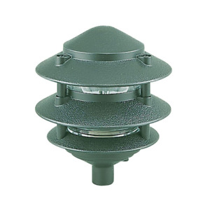 Walkway Path Lighting 1-Light 120 Volt 75-Watt Die Cast Aluminum Emerald Green