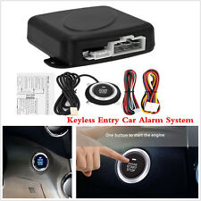 Universal Car Alarm System Security Keyless Entry Push Button Engine Start 4pcs