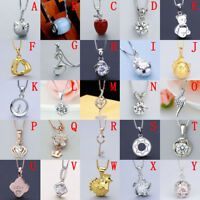 Fashion Solid 925 Sterling Silver Pendant & Necklace Chain Charm Ladies Gift
