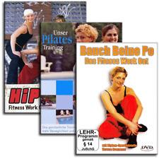 3 DVD Set - Bauch Beine Po und Pilates und Das Hip Hop Fitness Workout - Neu