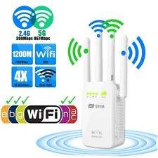 1200Mbps 2.4/5G 4 Antenna Dual Band Wireless Range Extender WiFi Repeater Router