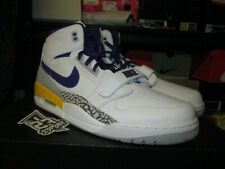 newest f431a 59cb5 SALE AIR JORDAN LEGACY 312 WHITE FIELD PURPLE AMARILLO YELLOW AV3922 157  LAKERS