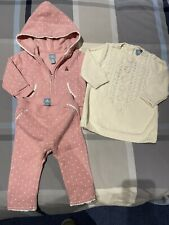 baby gap girls 6-12 months Sweat Shirt, Pants And Cable Knit Sweater Lot