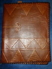 Vintage Handmade LEATHER Bible Cover Hand Tooled Embossed HOLY BIBLE Rare 😏