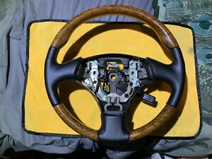 RX300 Wood and Black Leather Steering Wheel